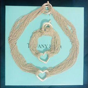 Tiffany & Co Sterling Silver Heart Choker/Bracelet